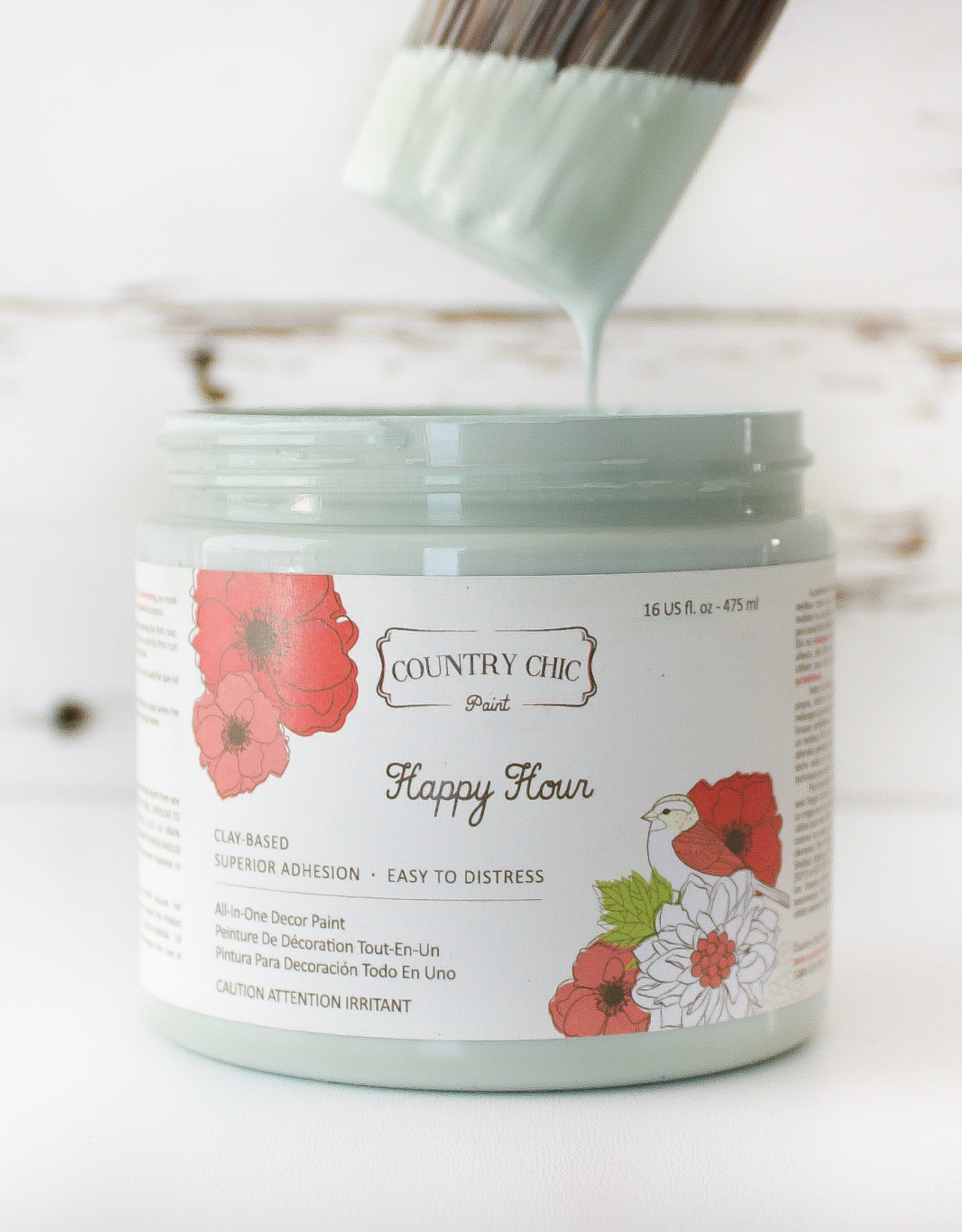 Country Chic Country Chic Paint Sample - 4oz Happy Hour