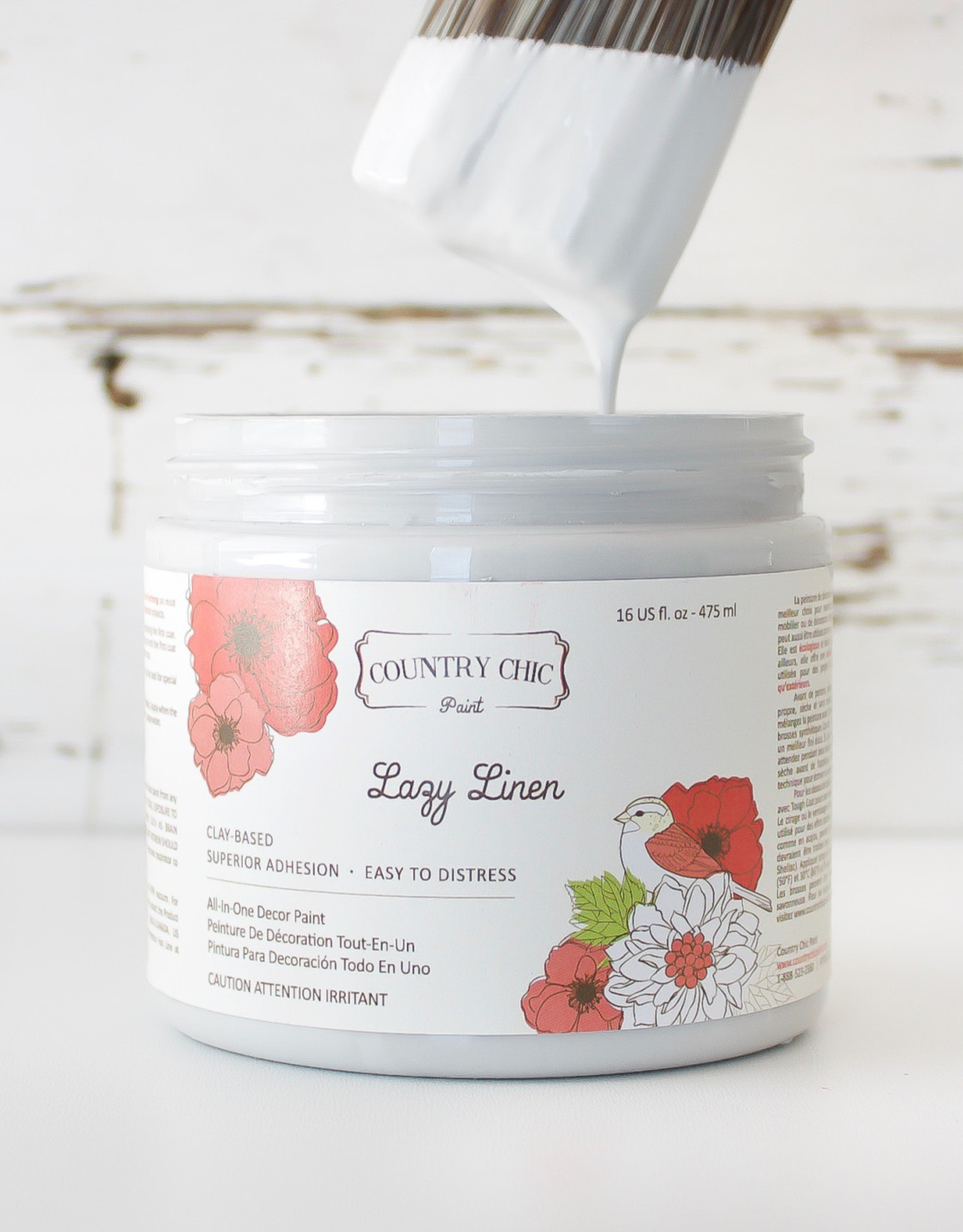 Country Chic Country Chic Paint Pint - 16oz Lazy Linen