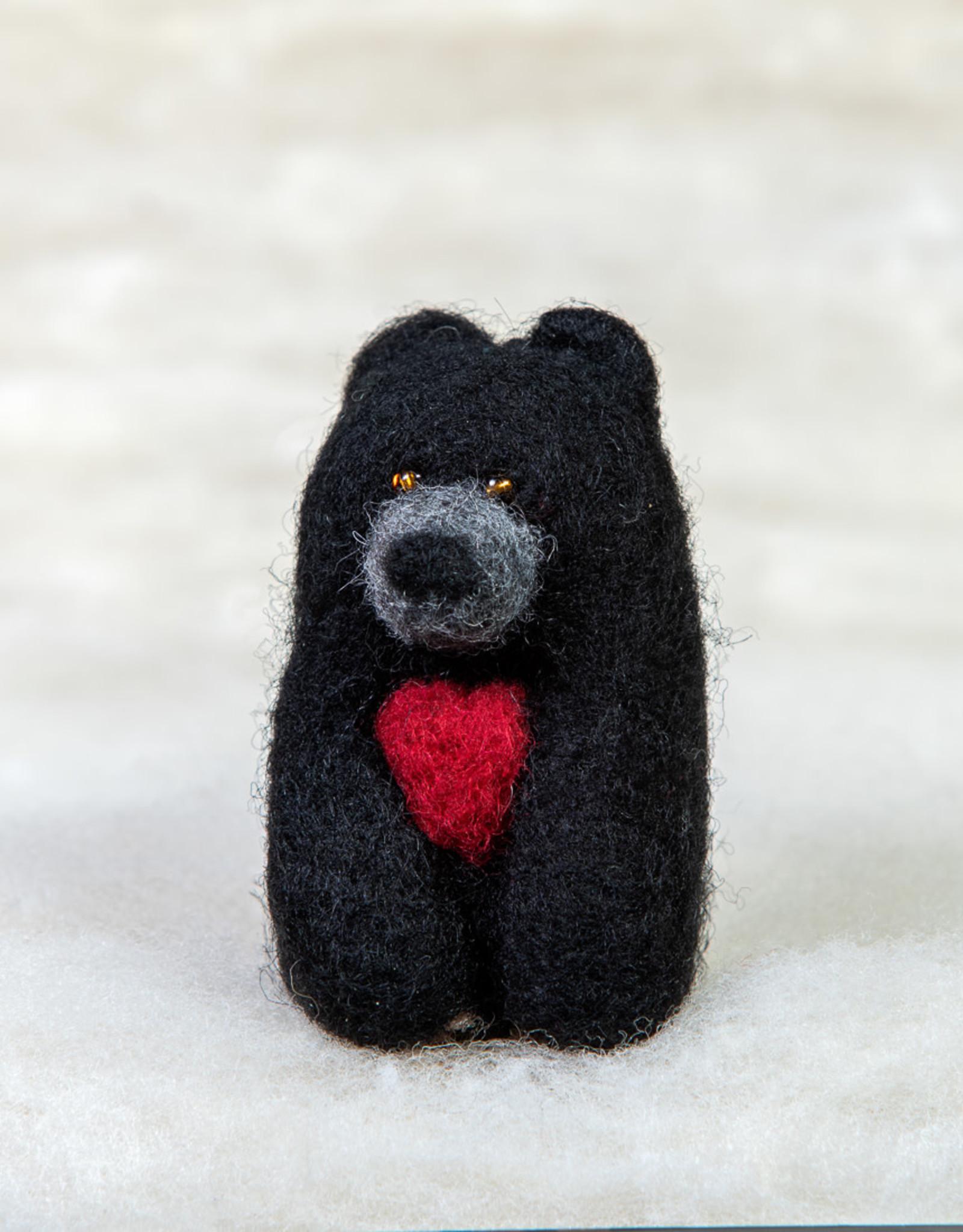 Spectacled Bear Black Bear with Heart