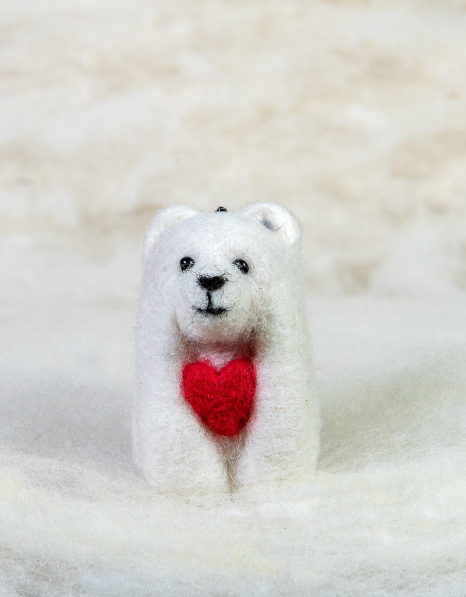 Spectacled Bear Polar Bear with Heart
