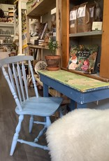 Blue and Green Chippy Desk