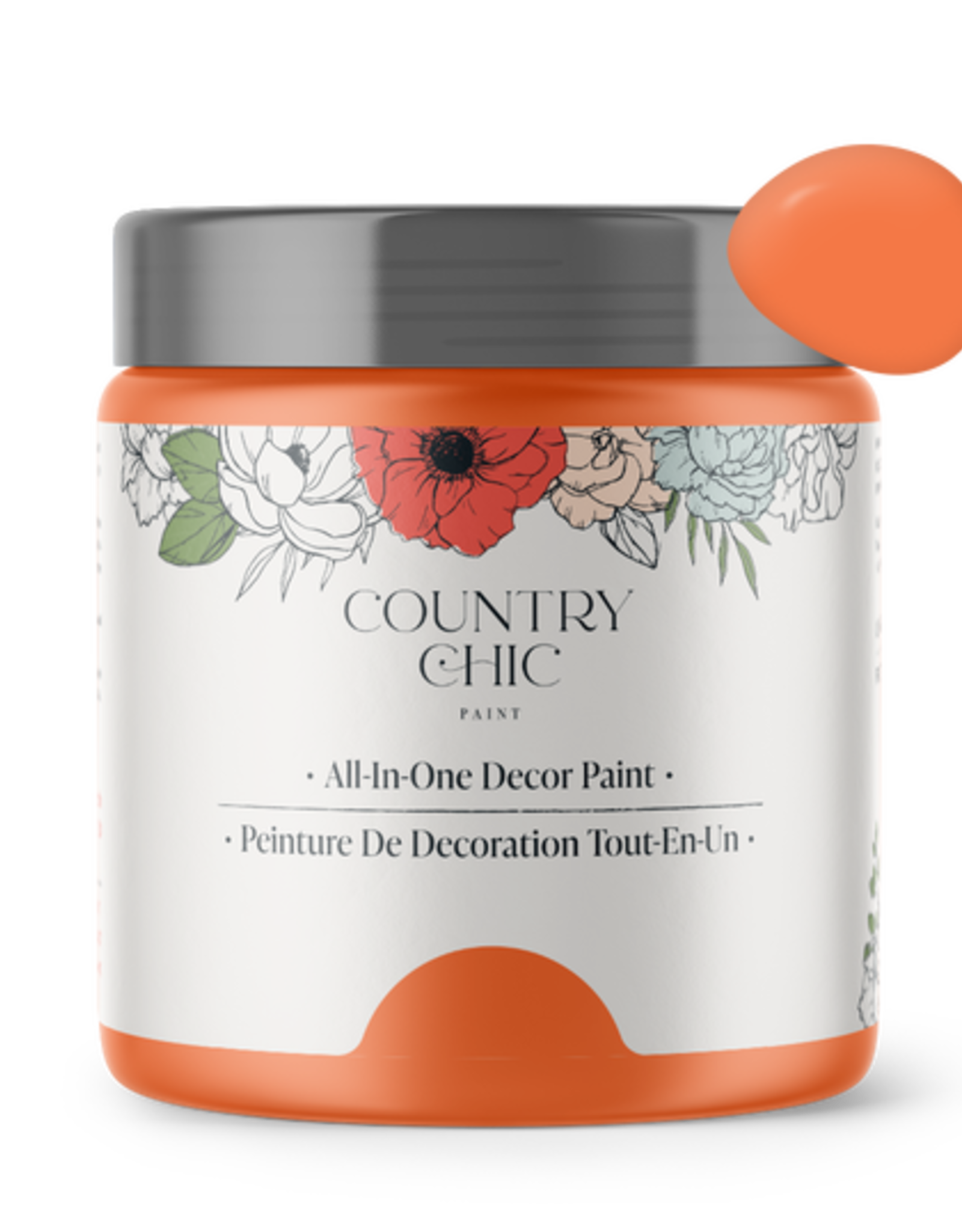 Country Chic Paint Pint - 16oz Persimmon