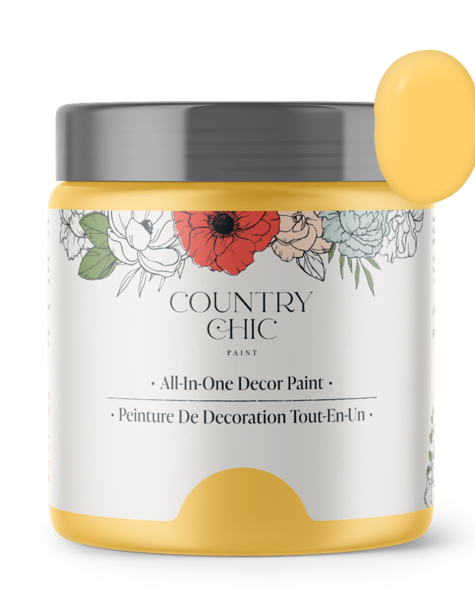 Country Chic Paint Pint - 16oz Yellow Wellies