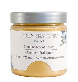 Country Chic Metallic Cream Pocket Watch