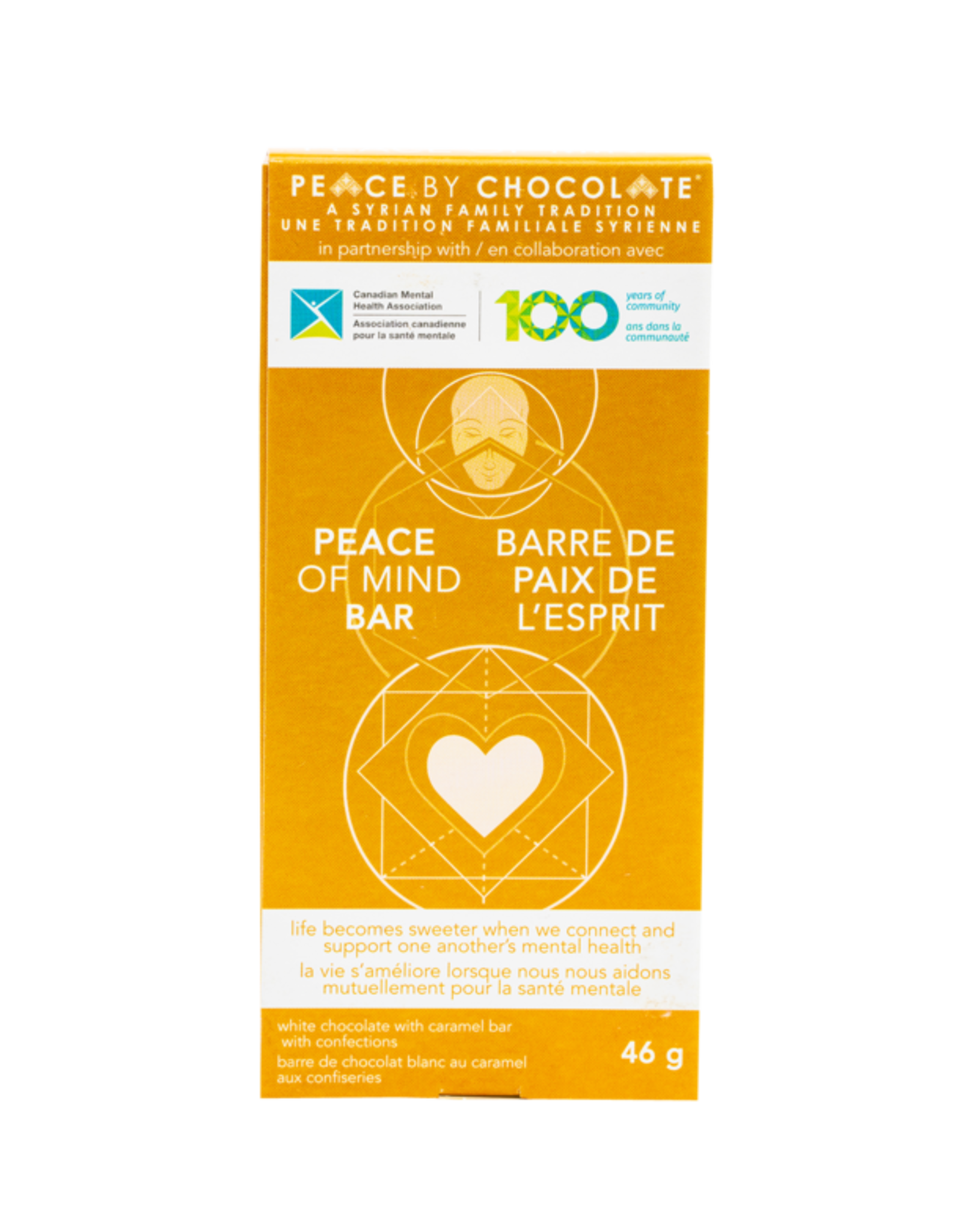 Peace by Chocolate Peace of Mind Gold Chocolate Bar 46g