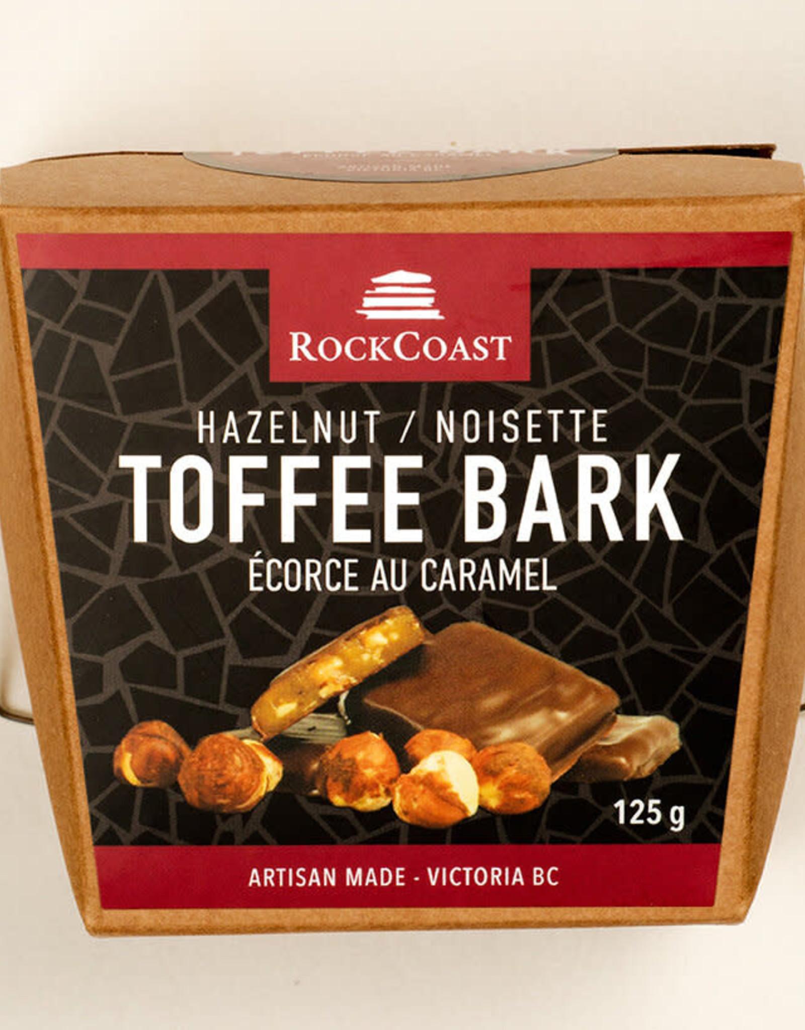 Rock Coast Toffee bark - Hazelnut 125g box