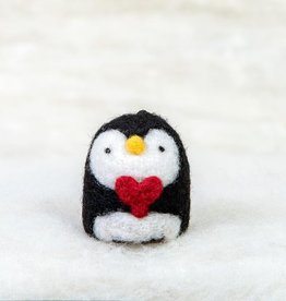 Spectacled Bear Penguin with Heart