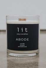 Lit Soy Candles, Abode (Cozy Collection)