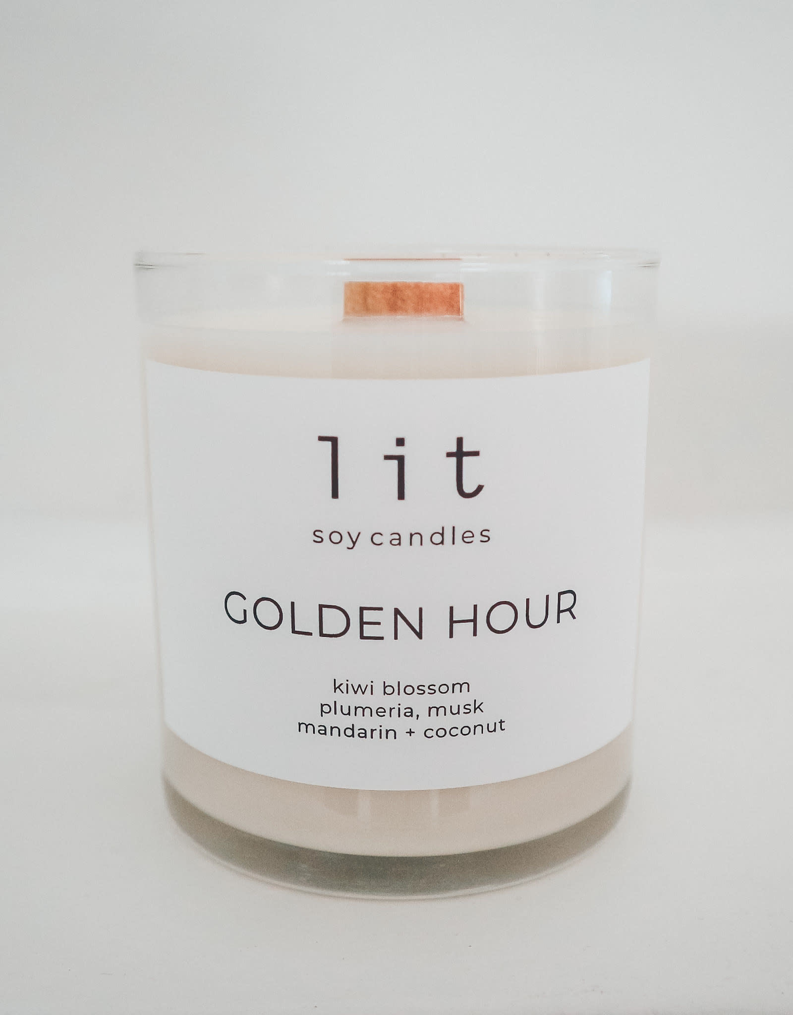 Lit soy candles, Golden Hour