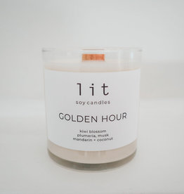 Lit Soy Candle, Golden Hour