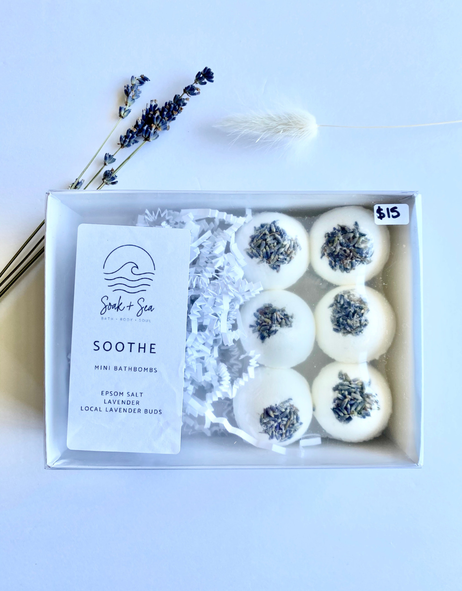 Soak and Sea Soak & Sea Soothe, Mini Bathbomb Sets