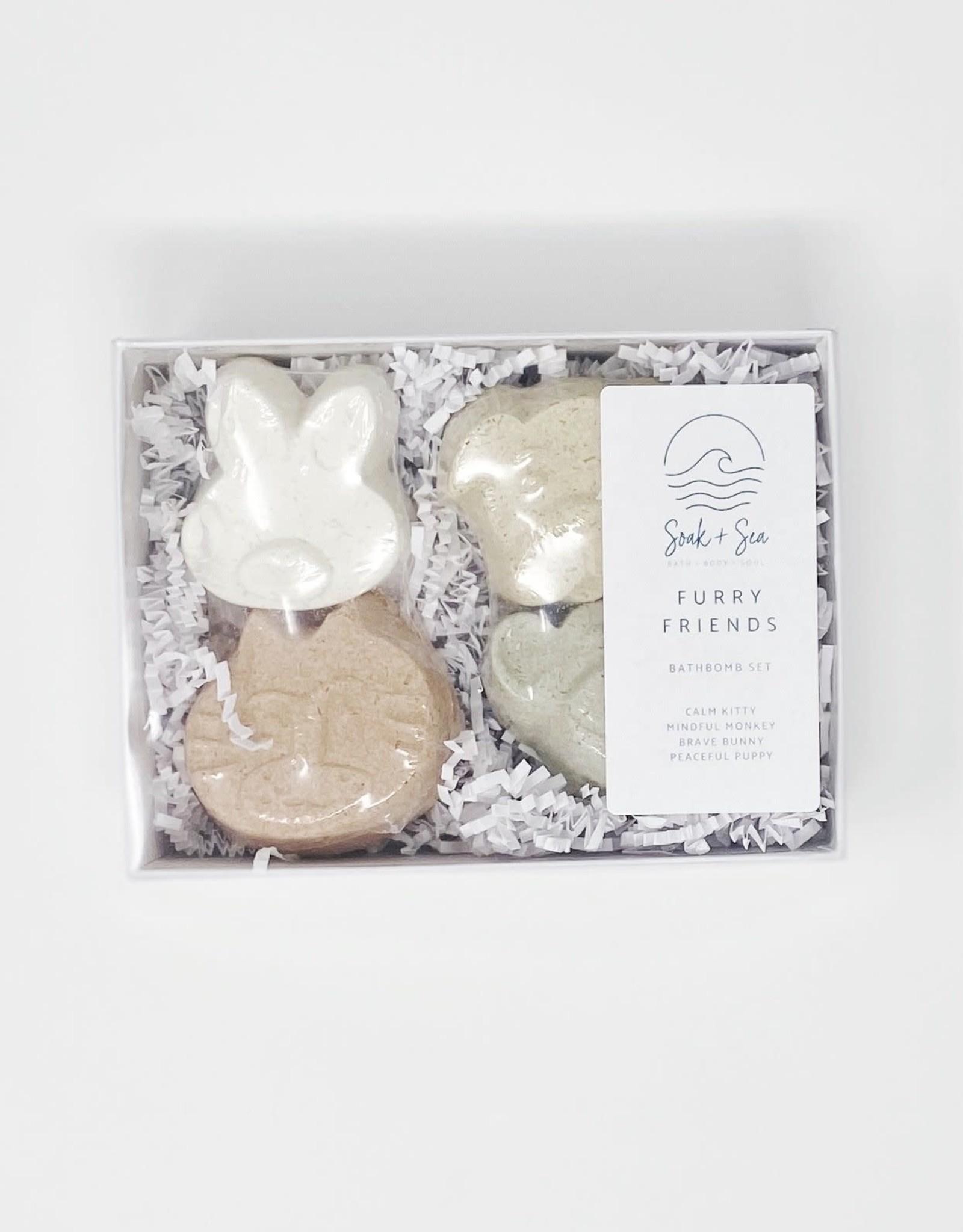 Soak and Sea Soak & Sea Furry Friends, Bathbomb set