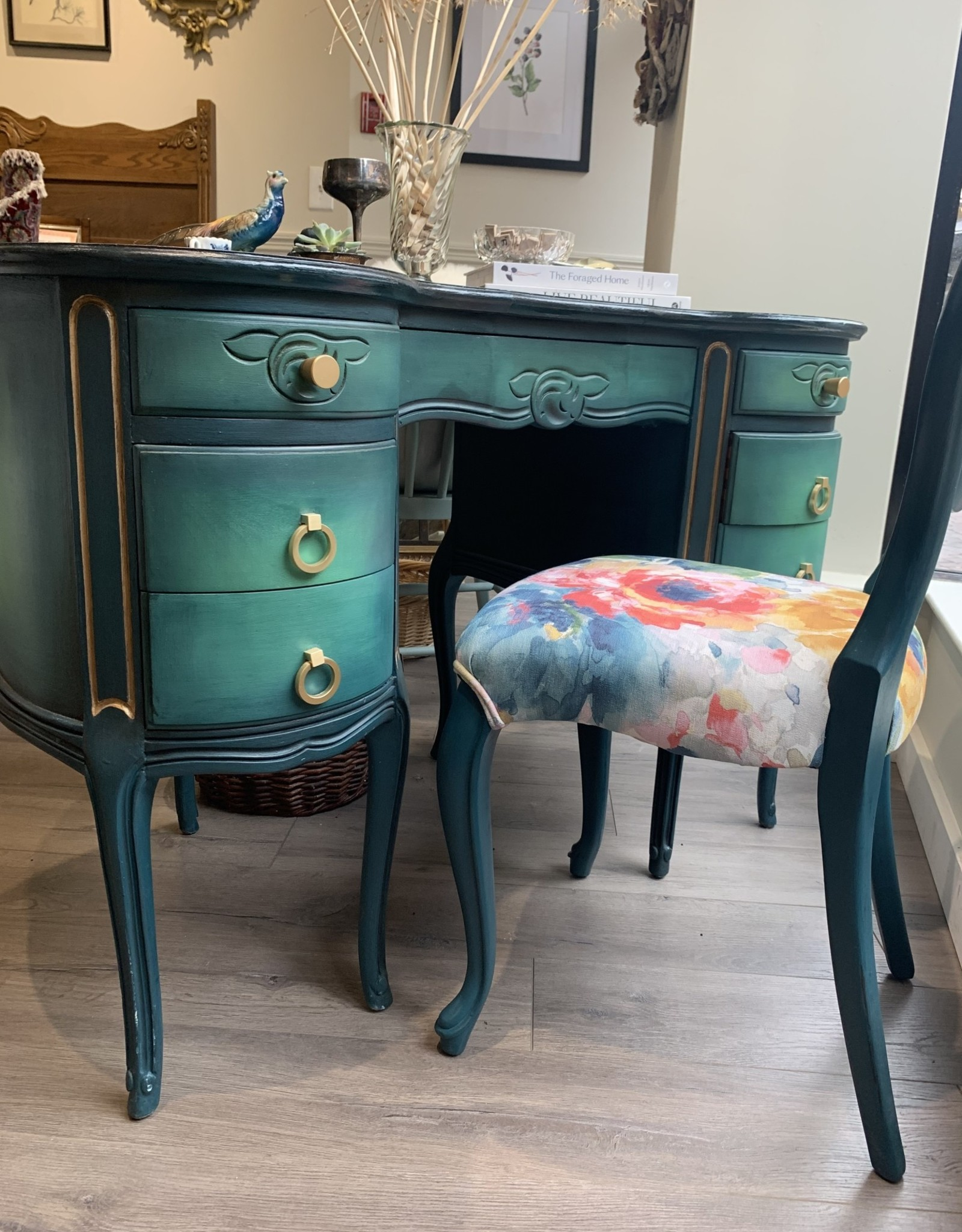 Re-Inc Refinishing Antique desk with chair