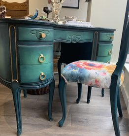 Re- Inc Refinished Antique desk with chair