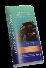 Peace by Chocolate, Dark chocolate, almond and sea salt bar