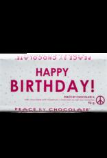 Peace by Chocolate Milk Chocolate Happy Birthday Bar