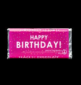 Peace by Chocolate Dark Chocolate Happy Birthday Bar
