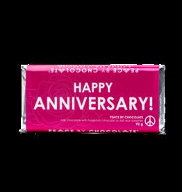 Peace by Chocolate Milk Chocolate Happy Anniversary Bar