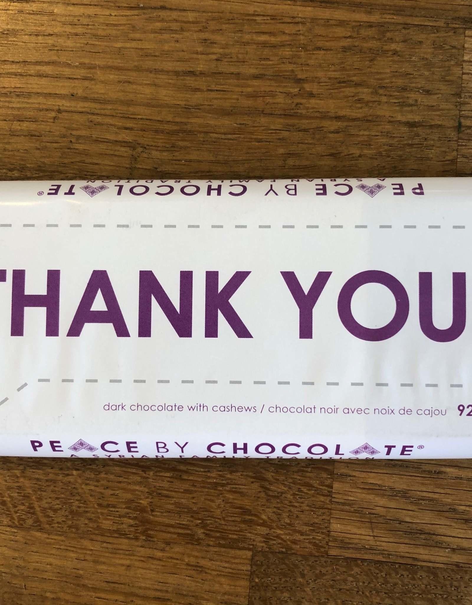 Peace By Chocolate Dark Chocolate Thank You Bar