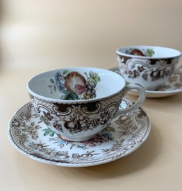 Set of 6 Windsor Ware Tea Cup and Saucers