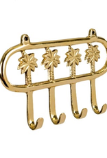 Hook, Palm Tree, Brass