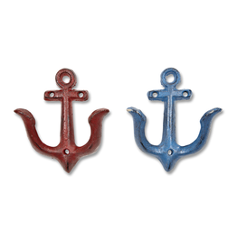 Blue & Red Small Anchor Hook