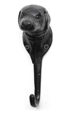 Hook Wall, Dog Head, Black