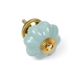 Turquoise Pumpkin Knob
