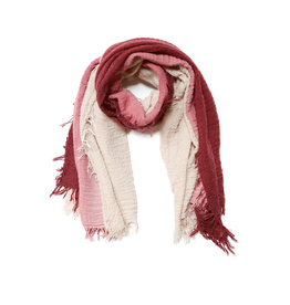 Sand & Burgundy Two-Toned Scarf