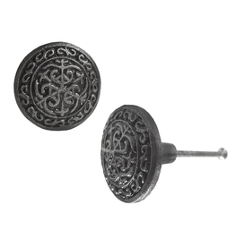 Knob, String Design, Cast Iron