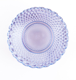 "Purple Glass ""Petite Point"" Plate"