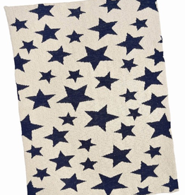 Blanket, Baby, Multi Star, Navy Cotton