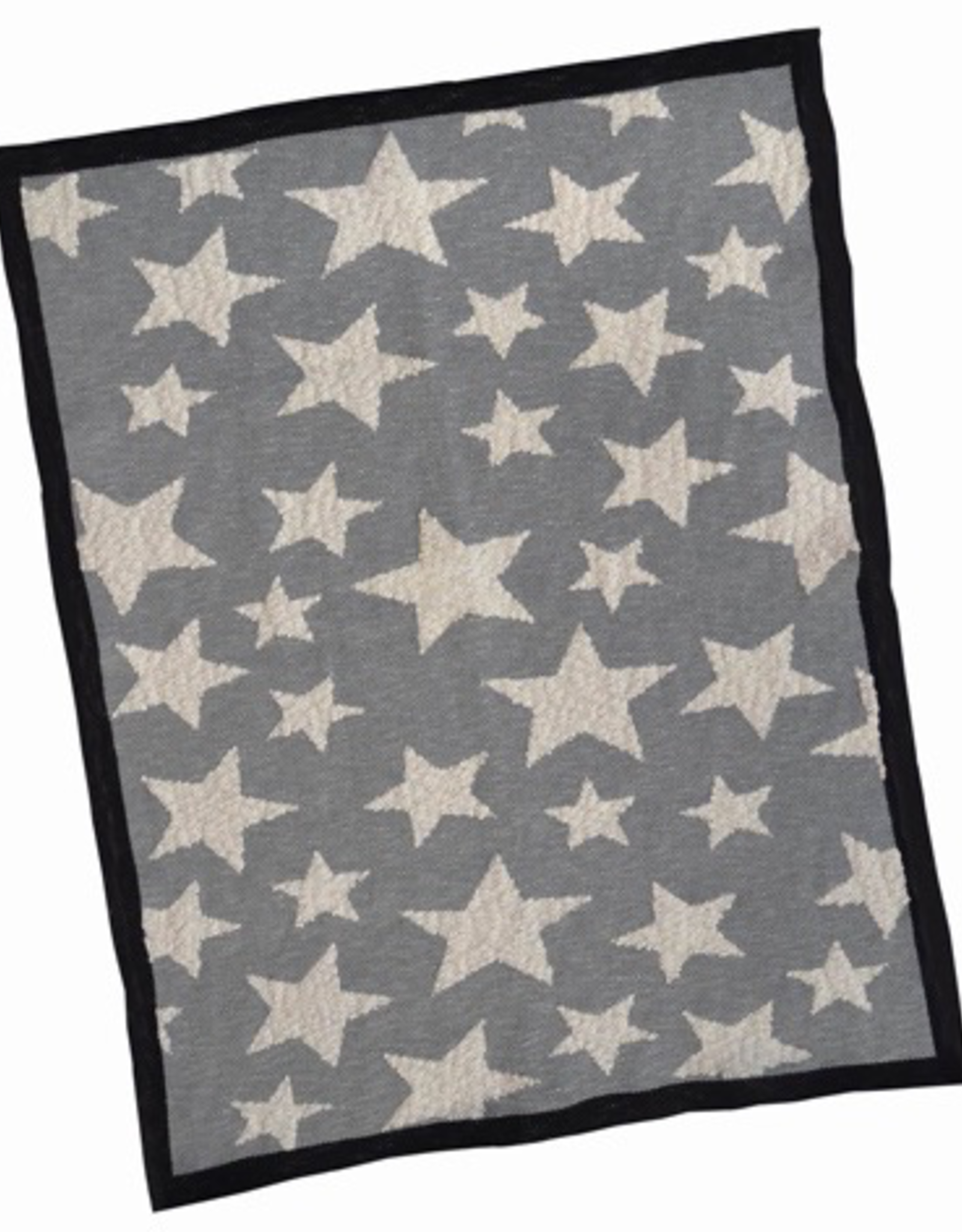 Grey Multi Star Cotton Baby Blanket