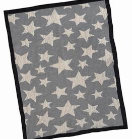 Grey Multi Star Cotton Baby Blanket