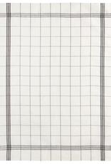 Tea Towel, Bistro, Natural with Black Plaid