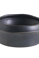"""Low Bowl, Kure, Grey Ceramic, 8 x 3.5"""""""