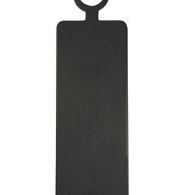 Cheese Board, Brushed Black Wood, Rectangle