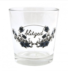 Blitzed Double Old Fashioned Glass, Fishs Eddy, 12 oz.