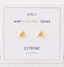 Mini Energy Gem Earrings - Citrine