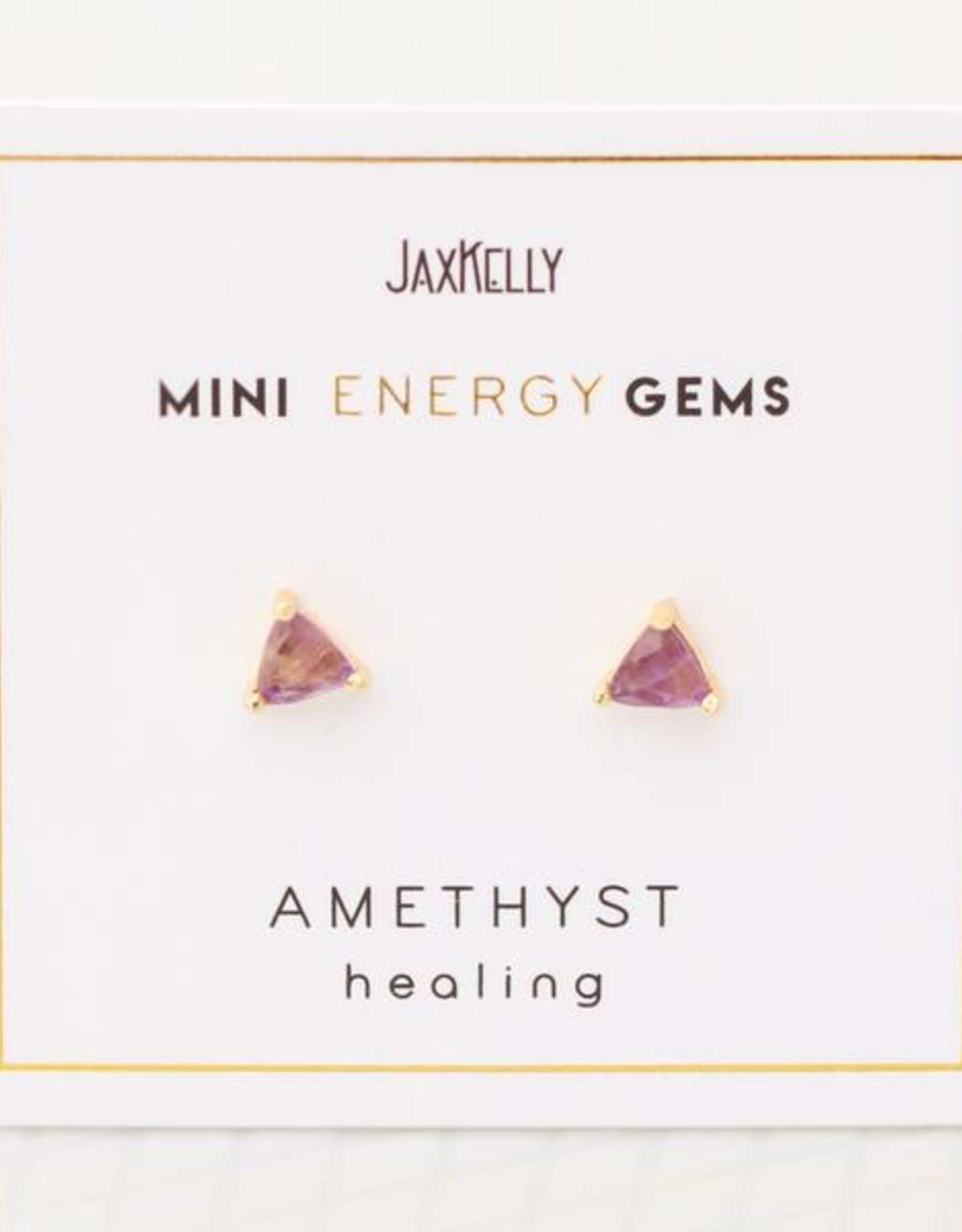 Amethyst Mini Energy Gem Earrings