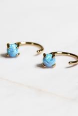 Huggie Earrings - Opal