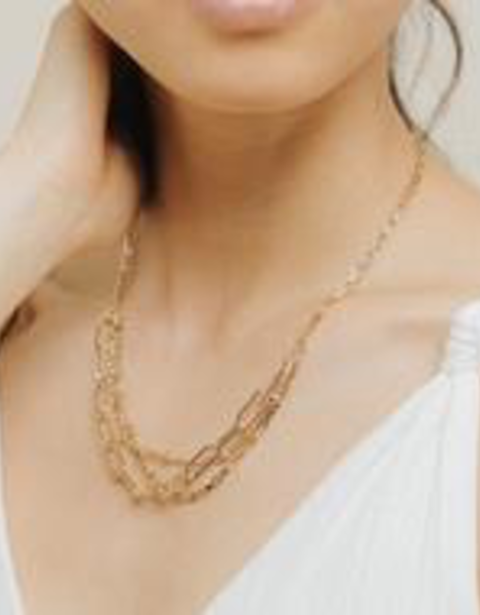 Necklace, Shay, Gold plated brass