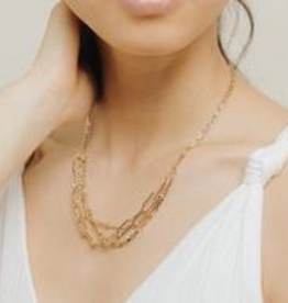 Gold Plated Brass Shay Necklace