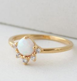 Gold/Opal Size 6 Juno Ring