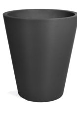 """Planter, Tapered Round Plastic with Ribbing, H30"""" D27"""""""