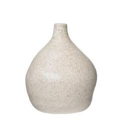 "Small Distressed Cream Glaze  Vase D5.5"" H7"""
