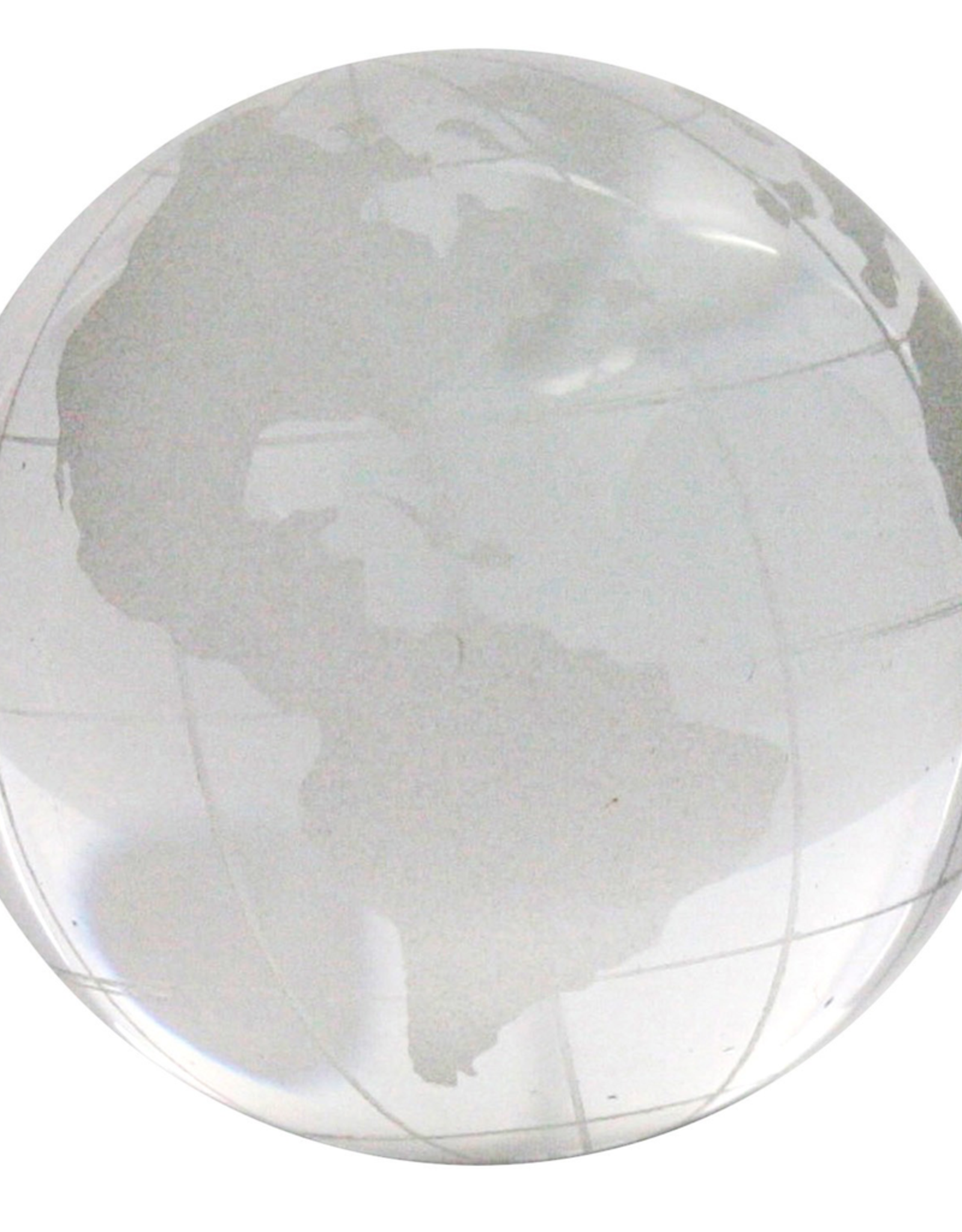 Globe, Glass, Clear Etched, Small