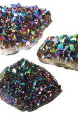 Titanium Rainbow Amethyst Cluster, Flat