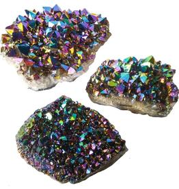 "Titanium Rainbow Amethyst Cluster D1.5-2"""