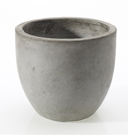 "Newport Pot, Grey, 6""x 5.5"""